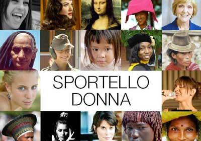 Nella foto la cartolina dello Sportello Donna