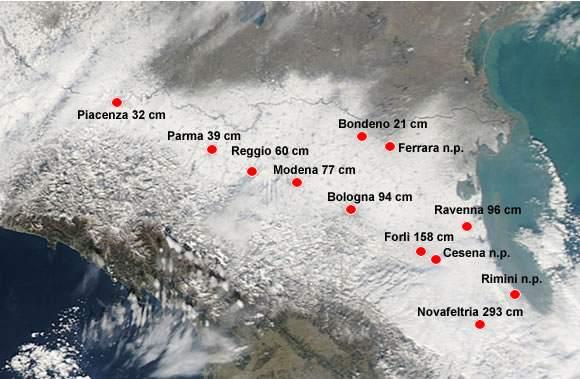 resoconto neve arpa febbraio 2012