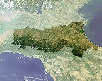 emilia romagna dal satellite