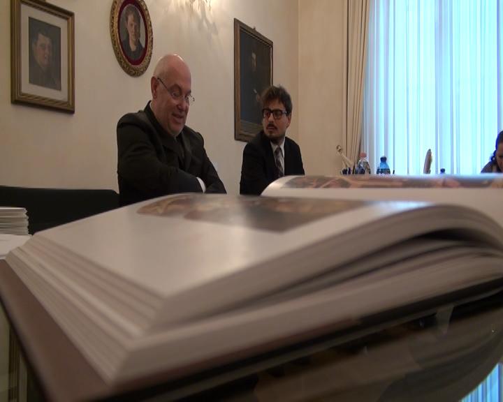 Massimo Pasquinelli, presidente della Fondazione Carim, durante la presenatzione del ciclo