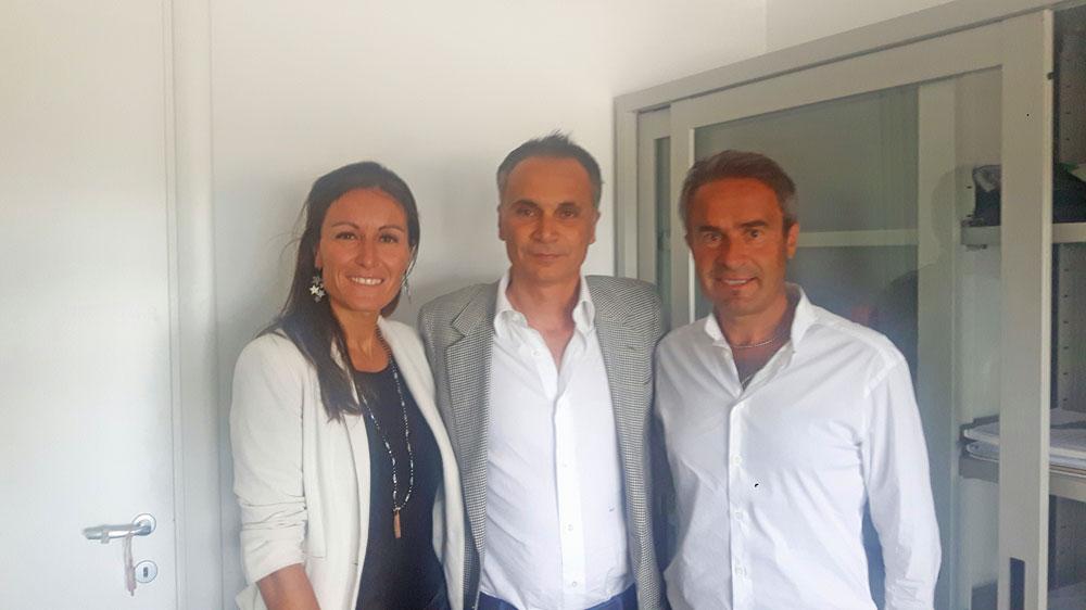 Da sinistra: il vice-sindaco Bertuccioli, l'assessore Corsini ed il sindaco Morelli