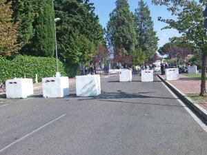 barriere anti-terrorismo all'ingresso dei paddok