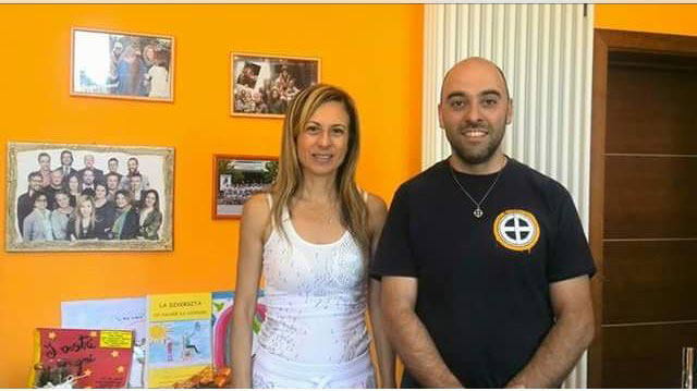 Mimma Spinelli con Roberto Lo Giudice