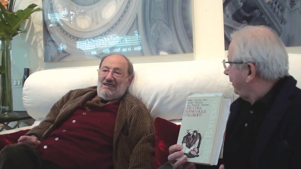 Umberto Eco (a sinistra) con Marcello Dibella