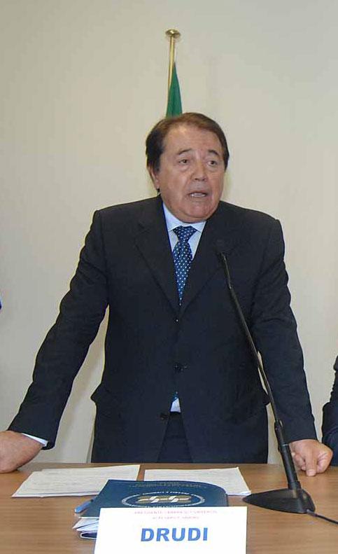 Alberto Drudi, presidente della Camera di Commercio Pesaro Urbino