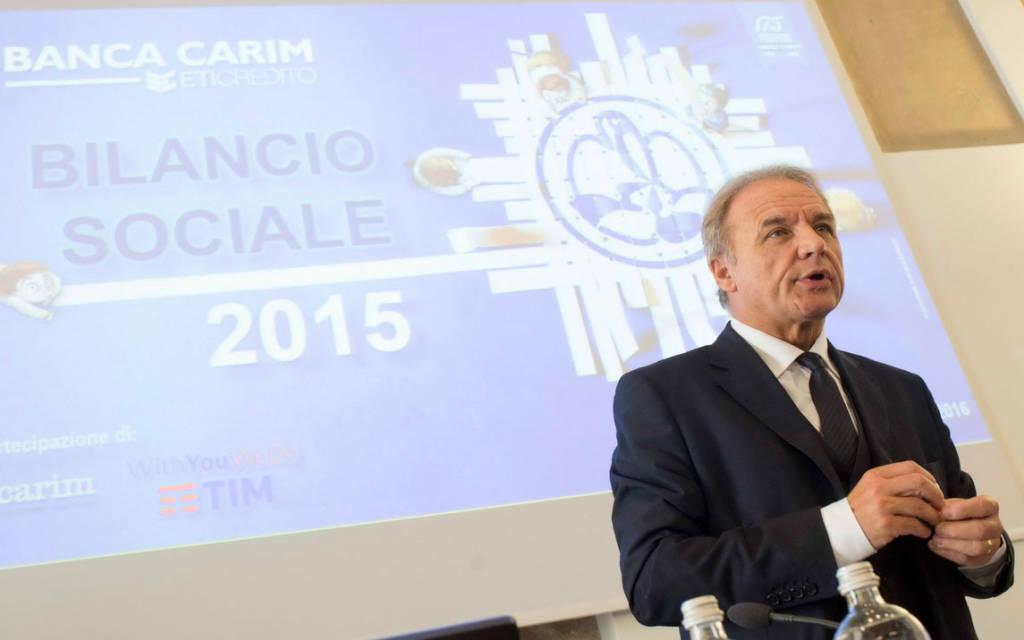 Sido Bonfatti, presidente di Banca Carim