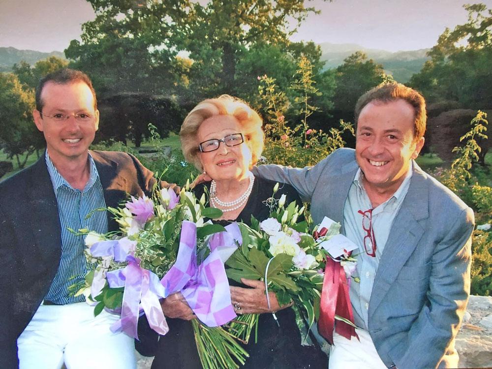 Maria Luisa Zennari con l'amico-collega Riccardo Gresta e l'allievo Andrea Donati