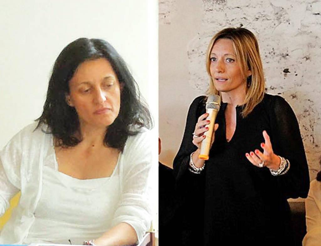 Renata Tosi (sindaco di Riccione) e Sabrina Vescovi (candidato a sindaco del Pd