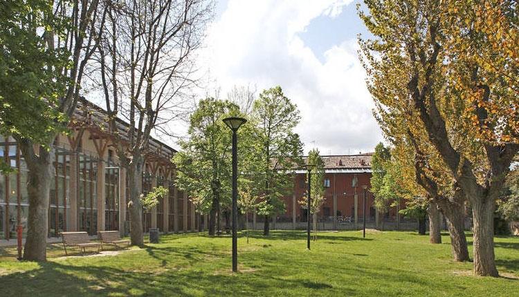 Il chiostro della biblioteca San Giovanni